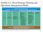 exhibit 2 6 retail strategic planning and operations management model
