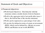 statement of goals and objectives2
