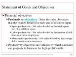 statement of goals and objectives4