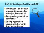 definisi bimbingan dari kamus dbp