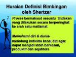 huraian definisi bimbingan oleh shertzer