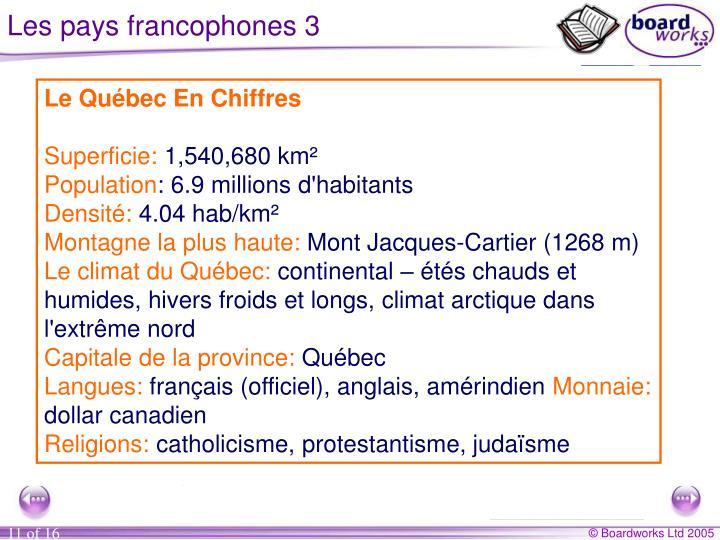 Les pays francophones 3