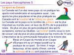 les pays francophones 5