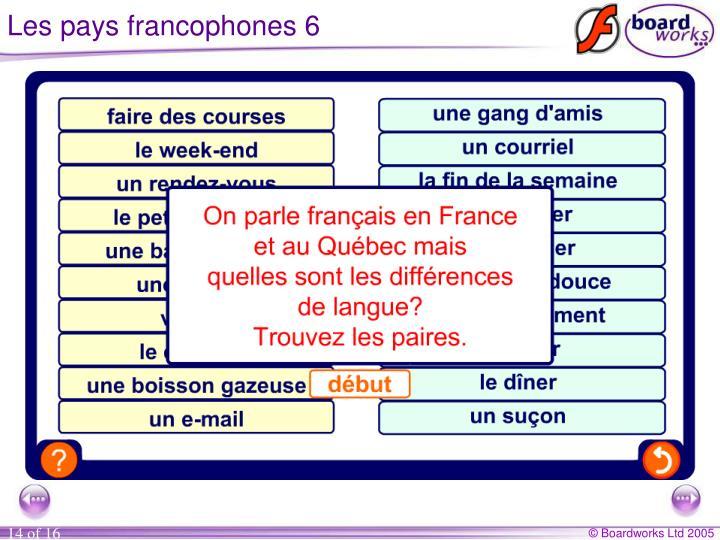 Les pays francophones 6