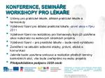 konference semin e workshopy pro l ka e