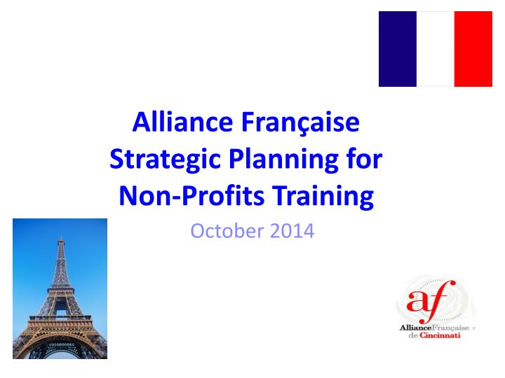 alliance fran aise strategic planning for non profits training n.