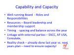 capability and capacity