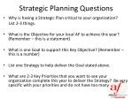 strategic planning questions