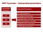 dmt formulae interpreted parameters