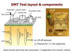 dmt test layout components