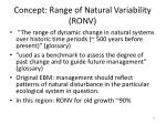 concept range of natural variability ronv