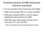 distilled evolution of ebm old growth retention standards