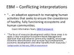 ebm conflicting interpretations