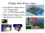 floppy disk drives types