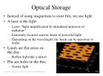 optical storage