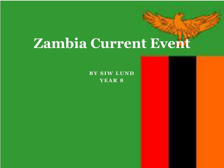 zambia current event n.