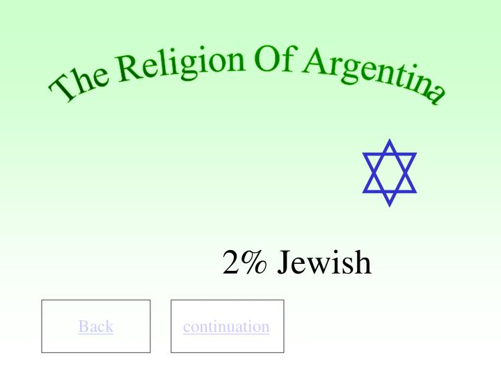 The Religion Of Argentina