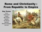 rome and christianity from republic to empire