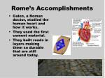 rome s accomplishments1