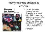 another example of religious terrorism