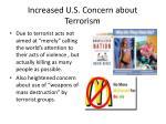 increased u s concern about terrorism