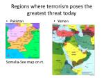 regions where terrorism poses the greatest threat today