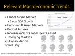 relevant macroeconomic trends