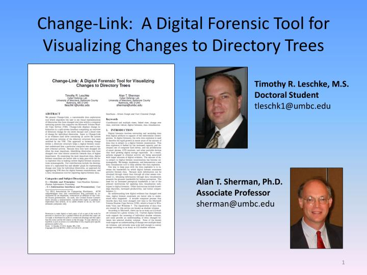 change link a digital forensic tool for visualizing changes to directory trees n.