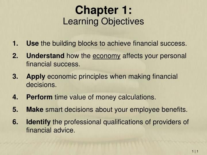 chapter 1 learning objectives n.