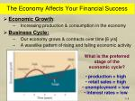 the economy affects your financial success