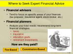 where to seek expert financial advice