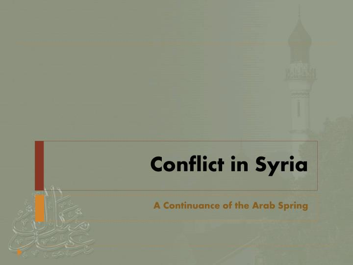 conflict in syria n.