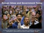 roman ideas and government today3