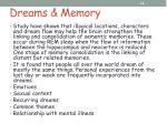 dreams memory