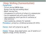 sleep walking somnambulism