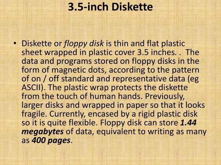 3 5 inch diskette