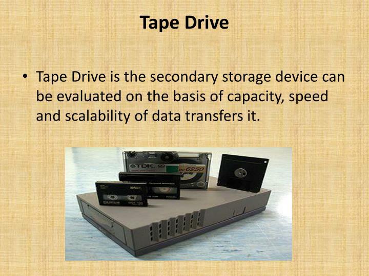 Tape Drive