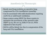 anesthesia for thorascopic