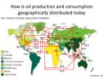 how is oil production and consumption geographically distributed today