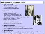 manifestations of political islam