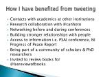 how i have benefited from tweeting