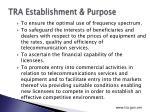 tra establishment purpose1