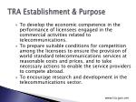 tra establishment purpose2