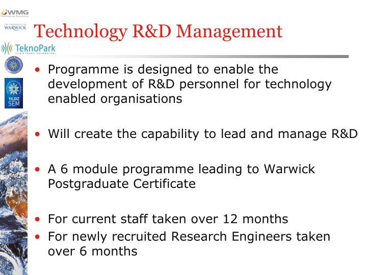 Technology R&D Management