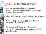 technology r d management