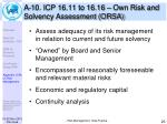 a 10 icp 16 11 to 16 16 own risk and solvency assessment orsa