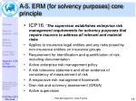 a 5 erm for solvency purposes core principle