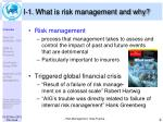 i 1 what is risk management and why