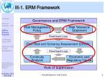 iii 1 erm framework