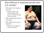 how different is japanese society than u s society